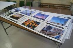 写真展の準備風景