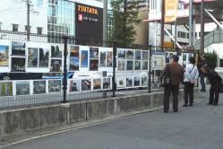 写真展会場(香里園駅前)